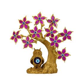 Fengshui Nazar Suraksha Kavach (Evil Eye Tree) - Purple Flower